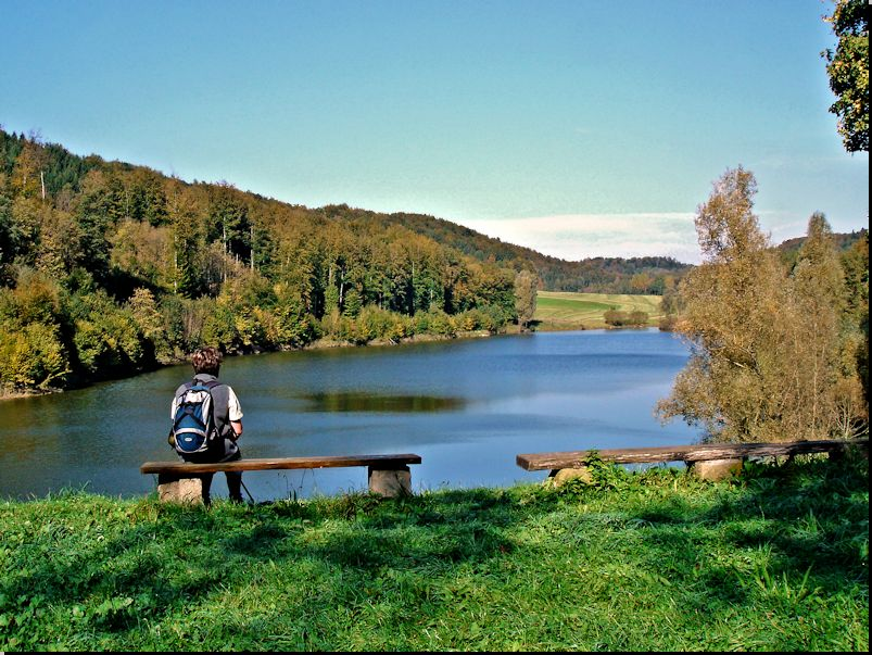 am Sailach-Stausee