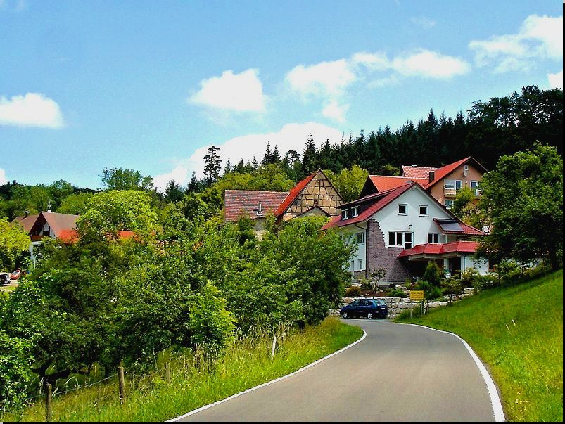 in Altersberg - Straße nach Einöd
